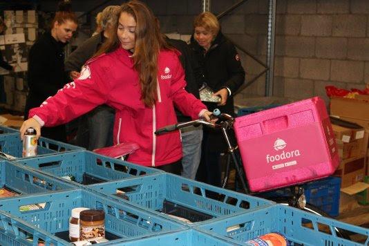 Foodora zet zich in voor Voedselbank